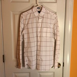 J. Crew - Small white and red button down